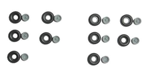 TT: Niederdruckräder/ Ballonräder klein, Felgen grau