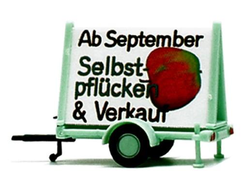 """Plakatwagen """"Äpfel Selbstpflücken und Verkauf"""""""
