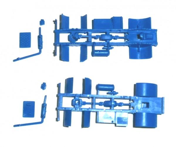 2 Stück Fahrgestell für W50L/SZM in blau