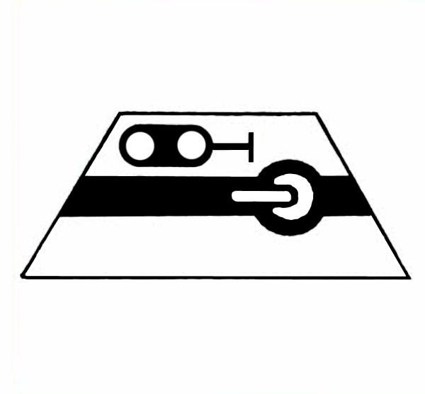 S671A Signalsymbol Hauptsignal 2-begriffig ( Hp0 - Hp1 ) für Schalter