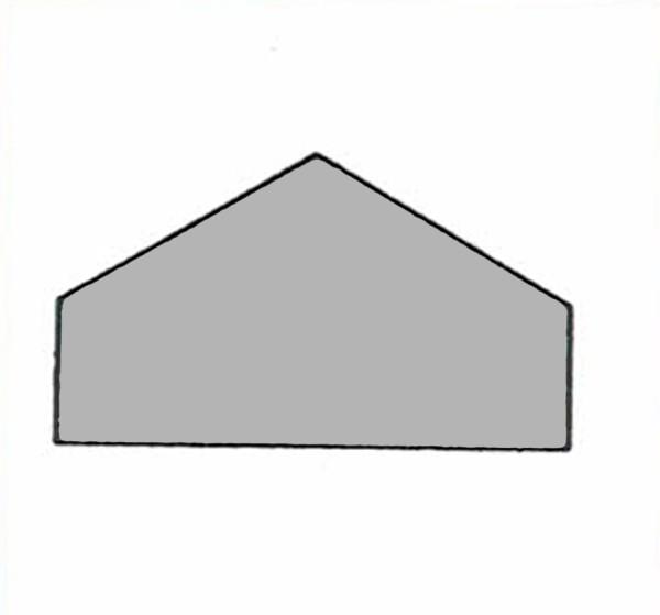 S400A Abdeckung / Leerbaustein grau