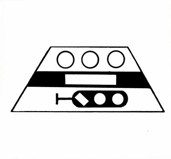 S643A Signalsymbol Hauptsperrsignal 3-begriffig für 3 Taster-Copy-Copy