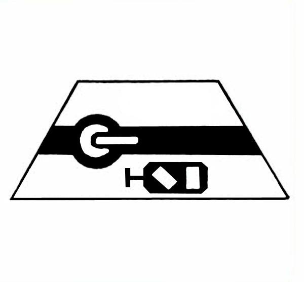 S682A Signalsymbol Gleissperrsignal für Schalter