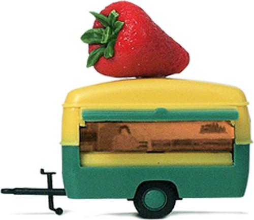"""Marktstand """"Erdbeeren"""", mit Dachbestückung"""