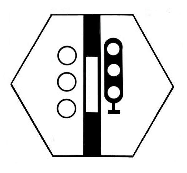 S821A Signalsymbol Hauptsignal 3-begriffig ( Hp0 - Hp1-Hp2 ) für 3 Tastery-Copy-Copy