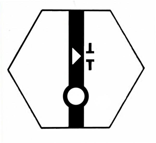 S720A Gleissymbol Entkupplungsgleis