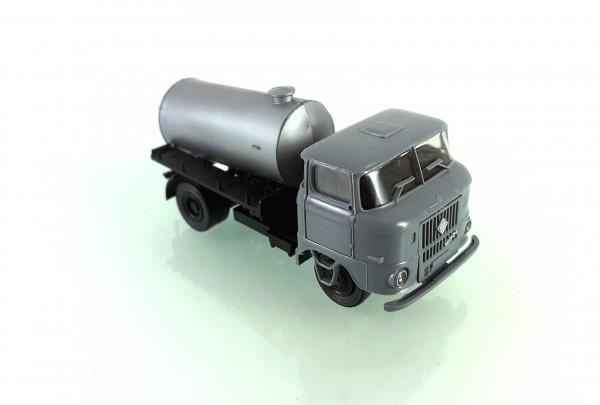 H0: FG000050 s.e.s W50L Tankaufbau silber, Fahrerhaus grau
