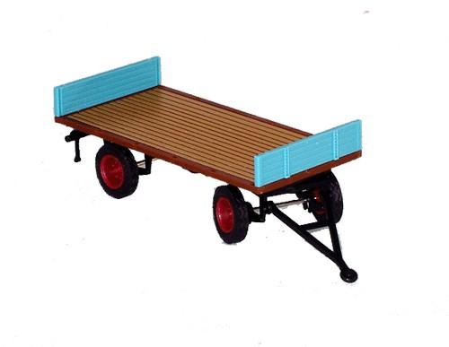 Plattformwagen mit flacher Front- & Heckbordwand