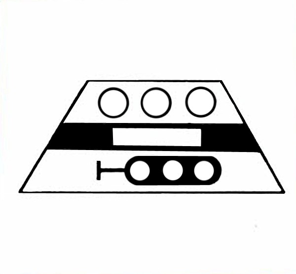 S618A Signalsymbol Hauptsignal 3-begriffig ( Hp0 - Hp1-Hp2 ) für 3 Taster
