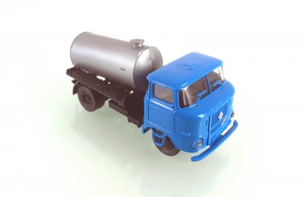 H0: FG000051 s.e.s W50L Tankaufbau silber, Fahrerhaus blau