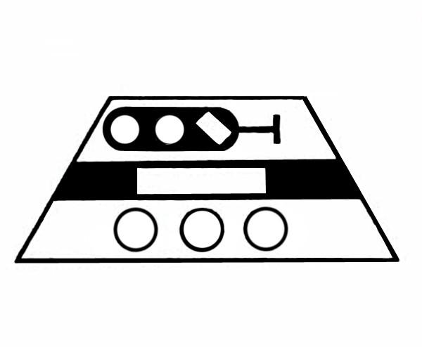 S642A Signalsymbol Hauptsperrsignal 3-begriffig für 3 Taster