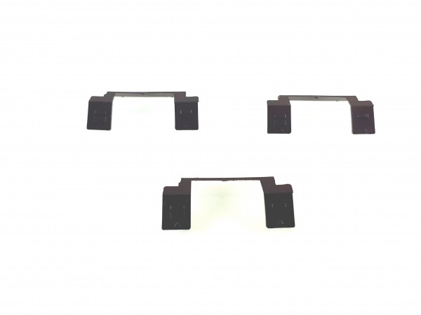 H0: 3 Stück breite Kotflügel für IFA Anhänger Typ E5 in schwarz