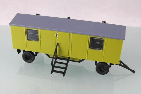 Bauwagen Typ A8 mit 4 Fenstern. Fortschrittgrün