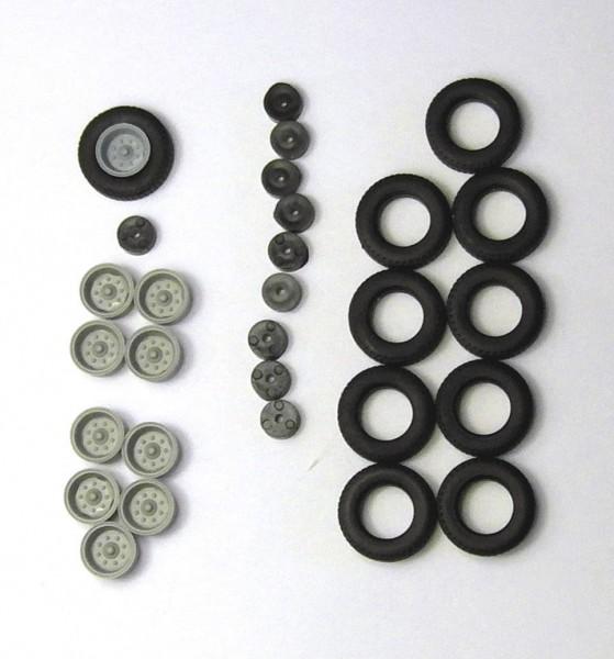 2 Satz Hochdruckbereifung für Anhänger HW80, E5 und andere. Felgen dunkelgrau