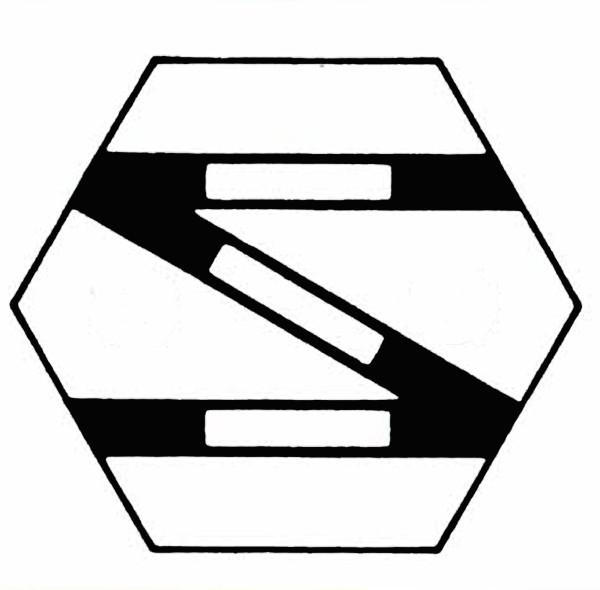 S902D Gleissymbol einfache Gleisverbindung rechts