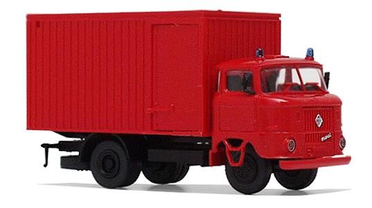 """LKW W50 """"Feuerwehr"""" mit Kofferaufbau"""