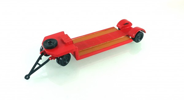 TT: 24200056 Tieflade- Schwerlastanhänger TL12 in rot. Kleinserienmodell