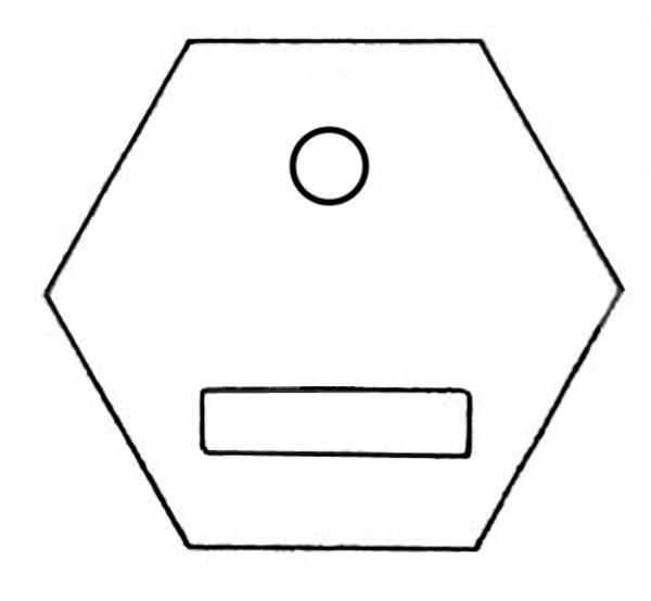 S751A Baustein mit Öffnung für Taster oder Schalter mit Beschriftungsfeld.-Copy