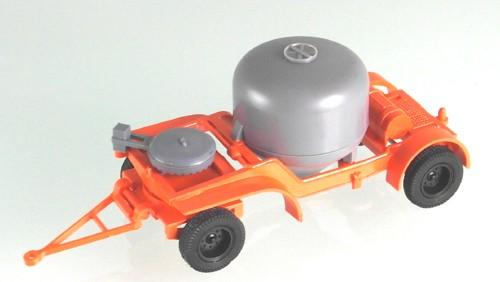 Zementsilo Anhänger 7t, Orange/ Grau