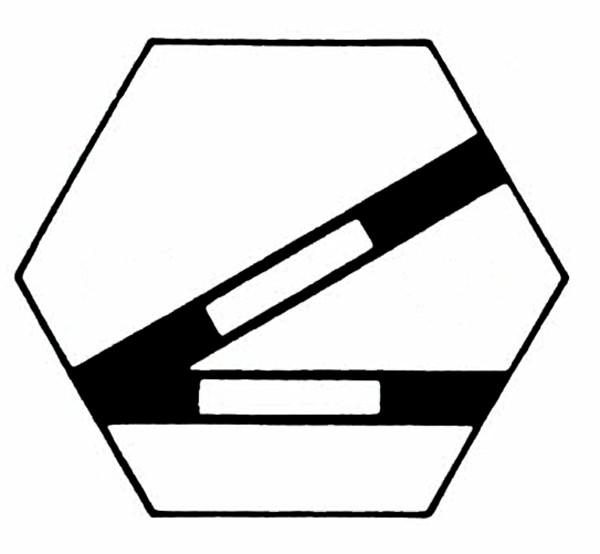 S904D Gleissymbol Weiche links ohne Taster