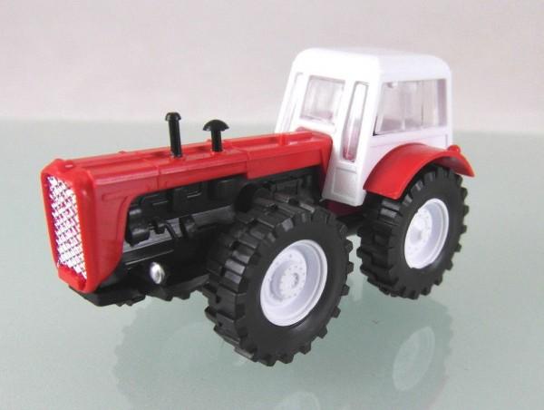 Traktor Dutra D4K rot / weiß mit weißen Felgen