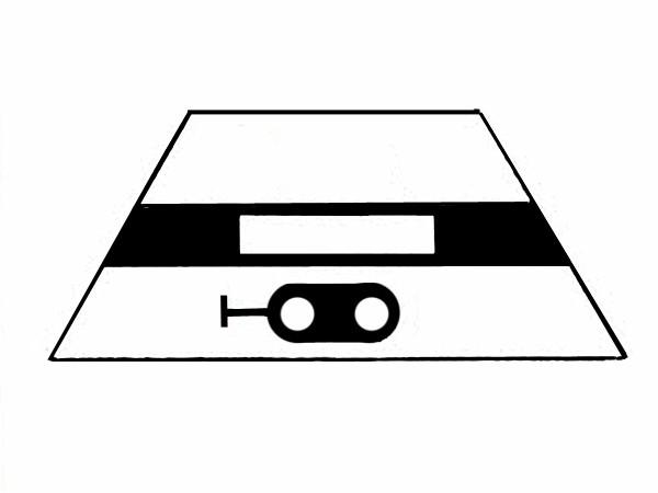 S622D Signalsymbol Hauptsignal 2-begriffig ( Hp0 - Hp1 ) ohne Taster