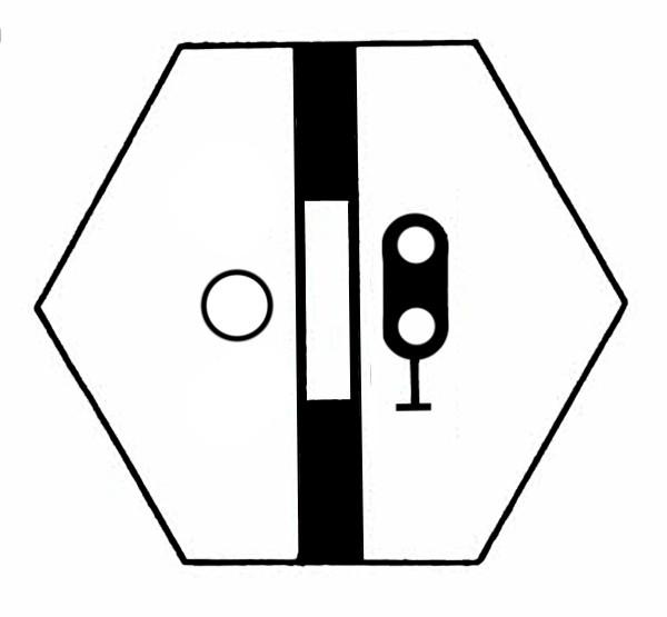 S825B Signalsymbol Hauptsignal 2-begriffig ( Hp0 - Hp1 ) für 1 Taster