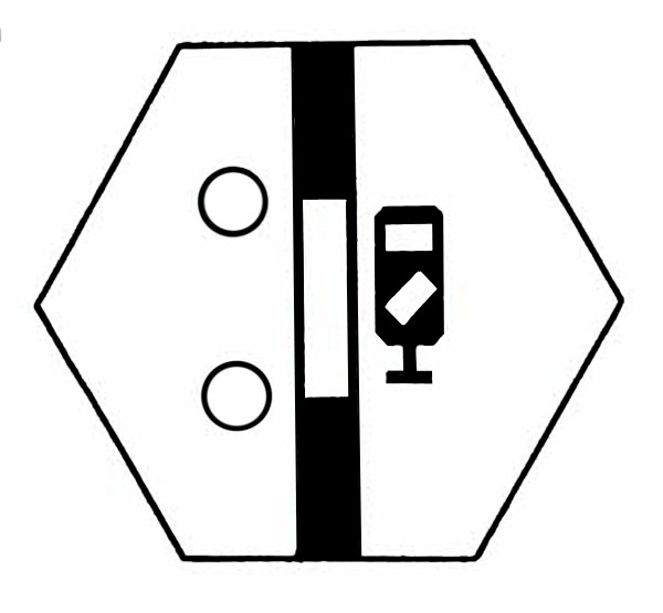 S860A Signalsymbol Gleissperrsignal für 2 Taster