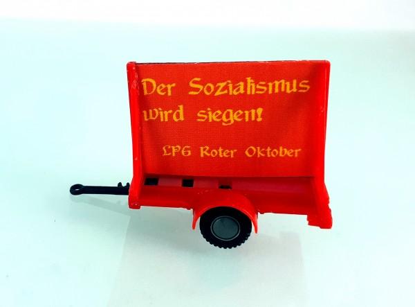 """HO: FG000053 Propagandaanhänger DDR Politparole """"Der Sozialismus wird siegen!"""" LPG"""