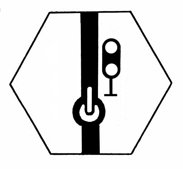 S871A Signalsymbol Hauptsignal 2-begriffig ( Hp0 - Hp1 ) für Schalter
