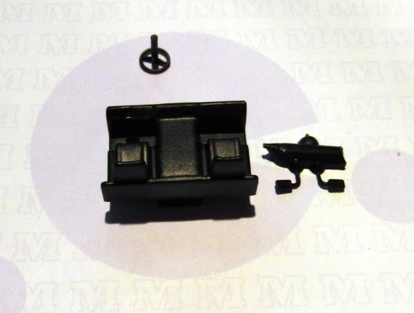 3 Stück Inneneinrichtung/ Sitzgruppe für LKW W50L in schwarz