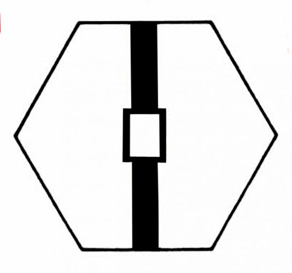 S712A Gleissymbol mit Beschriftungsfeld