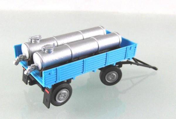 """Anhänger E5 mit 2 Viehtränken """"Fortschritt - Blau"""""""
