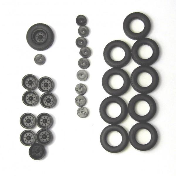 2 Satz Hochdruckbereifung für Anhänger HW80, E5 und andere. Felgen schwarz
