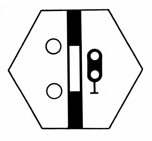 S825A Signalsymbol Hauptsignal 2-begriffig ( Hp0 - Hp1 ) für 2 Taster