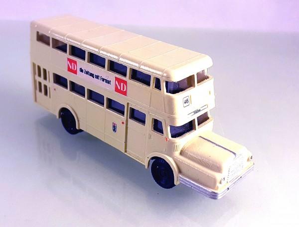 TT: 24200063 Doppelstockbus DO56 neutral beige, Beschriftung: ND Neues Deutschland -portofrei--