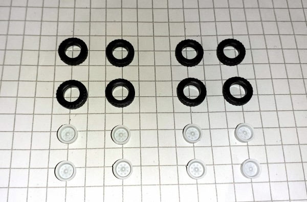 TT: Hochdruckräder z.B. für Anhänger HW80 / E5, Felgen grau