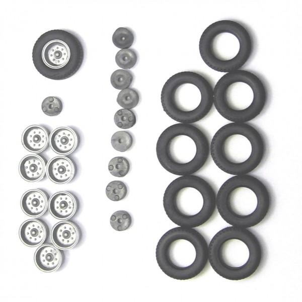 2 Satz Hochdruckbereifung für Anhänger HW80, E5 und andere. Felgen silber.-Copy