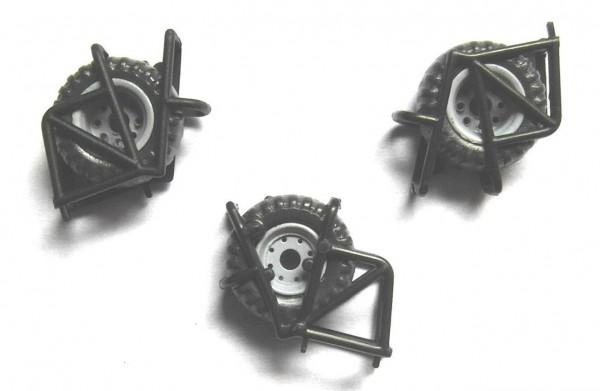3 Stück Reserveradhalter für Ballonreifen / Niederdruckreifen IFA W50