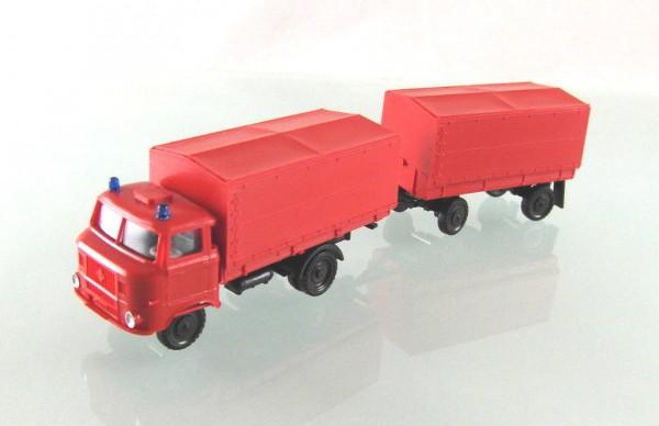 LKW W50L Hängerzug Pritsche / Plane der Feuerwehr