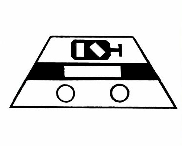 S640A Signalsymbol Gleissperrsignal für 2 Taster
