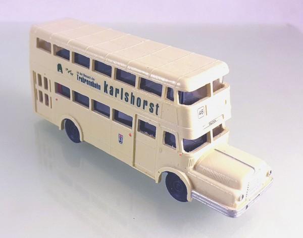 TT: 24200061 Doppelstockbus DO56 neutral beige, Beschriftung: Karlshorst -portofrei-