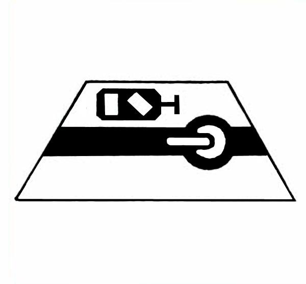S681A Signalsymbol Gleissperrsignal für Schalter