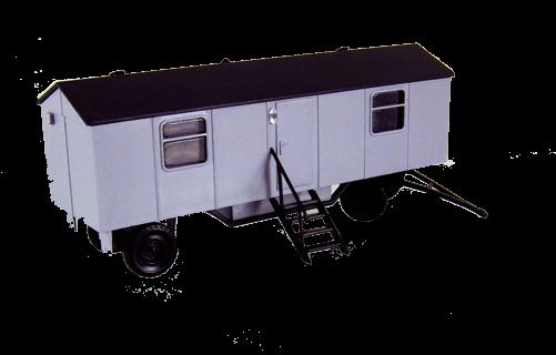 Bauwagen Typ A8 mit Fenstern - einfache Ausführung, Grau
