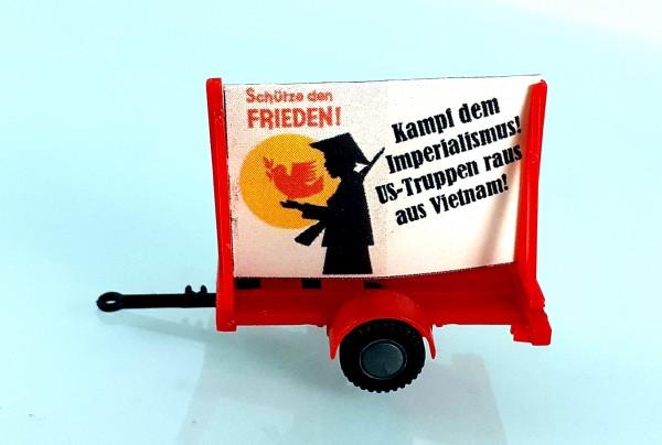 """HO: FG000054 Propagandaanhänger DDR Politparole """"Kampf dem Imperialismus / Vietnam"""""""