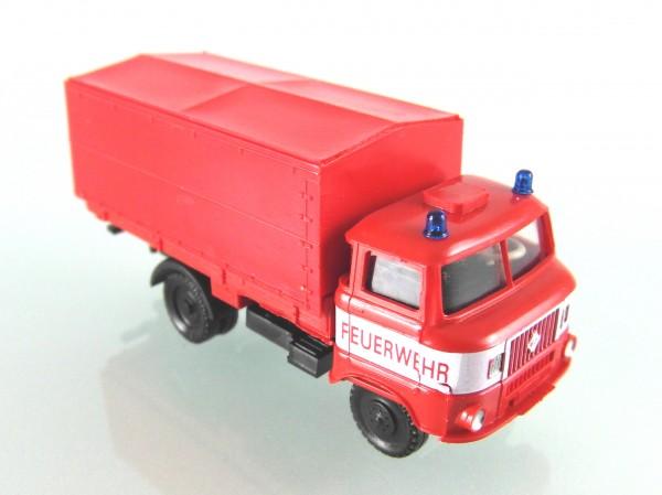 IFA W50 Feuerwehr Pritsche / Plane mit weißer Bauchbinde