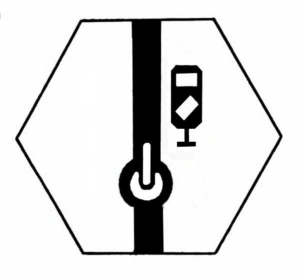 S891A Signalsymbol Gleissperrsignal für Schalter