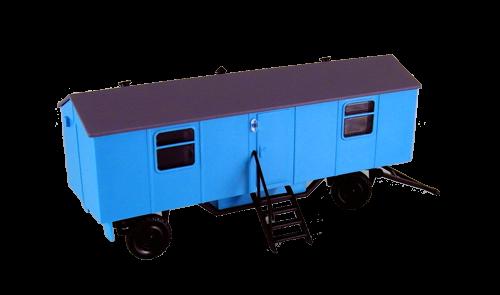 Bauwagen Typ A8 mit Fenstern - einfache Ausführung, Blau