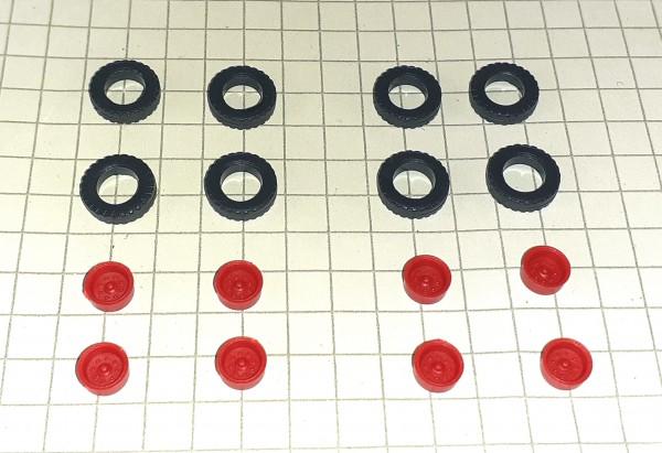 TT: Hochdruckräder z.B. für Anhänger HW80 / E5, Felgen rot