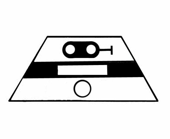 S621B Signalsymbol Hauptsignal 2-begriffig ( Hp0 - Hp1 ) für 1 Taster